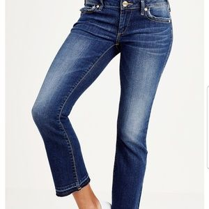 True Religion Karlie low rise cropped jeans